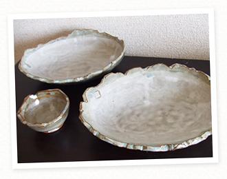 手作りのカレー皿
